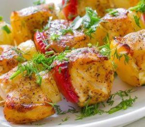 Idées recette : Brochettes de poulet citron
