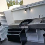 Cuisine d'extérieur évier plancha réfrigérateur Atlantic inox La Rochelle