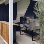Cuisine extérieur évier plancha grill hotte Atlantic inox Ile de Ré La Rochelle