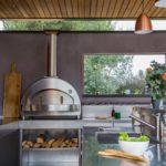 Cuisine ext Lyon sous pool house abritée Atlantic Inox