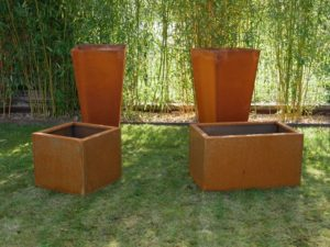 bac corten sur-mesure atlantic inox jardin cuisine