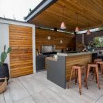 Maison et travaux Cuisine d'extérieur Red cédar inox (2)
